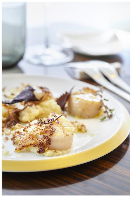 recette de Saint-Jacques et choux-fleurs