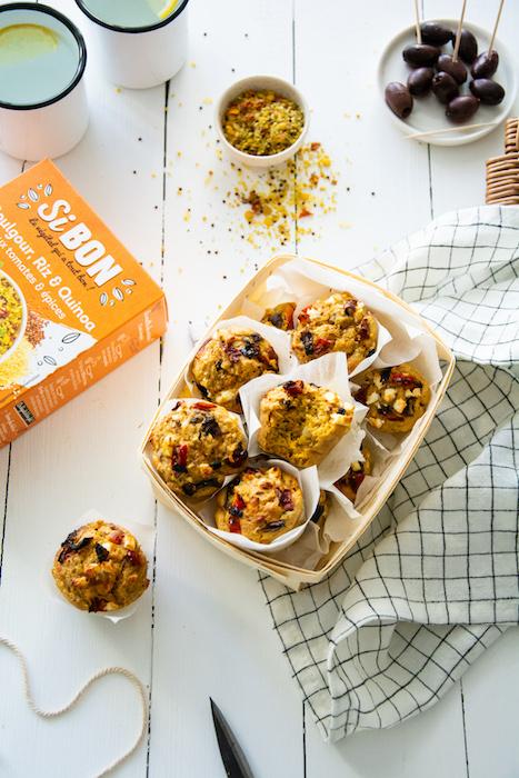 recette de Muffins feta poivrons et oignons
