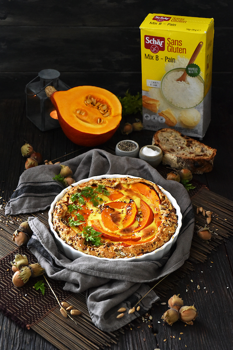 recette de Tarte rustique au potimarron et gorgonzola
