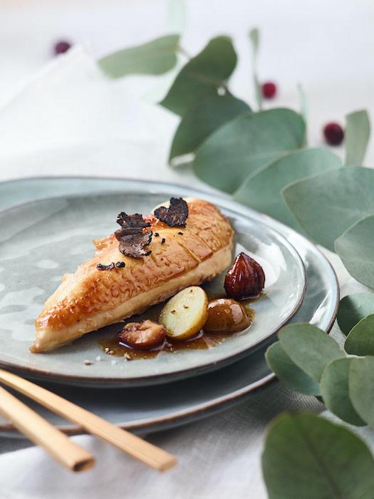 recette de Chapon à la truffe