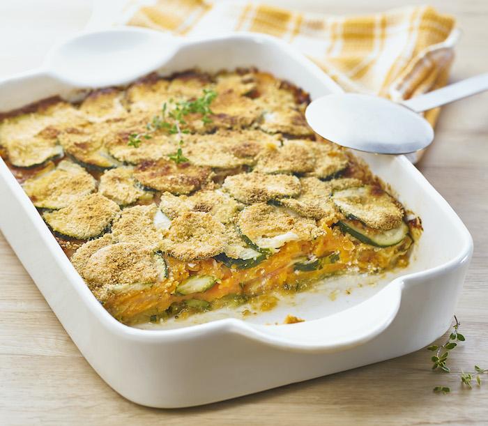 recette de Gratin de courgettes et patates douces