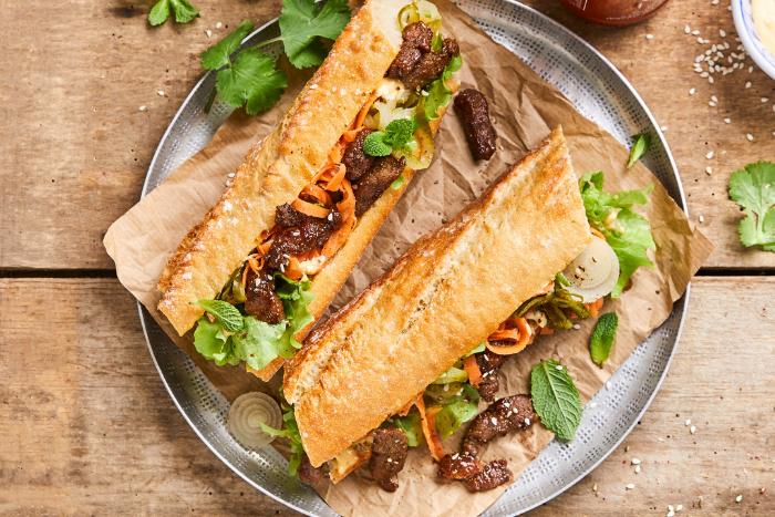 Sandwich façon banh-mi