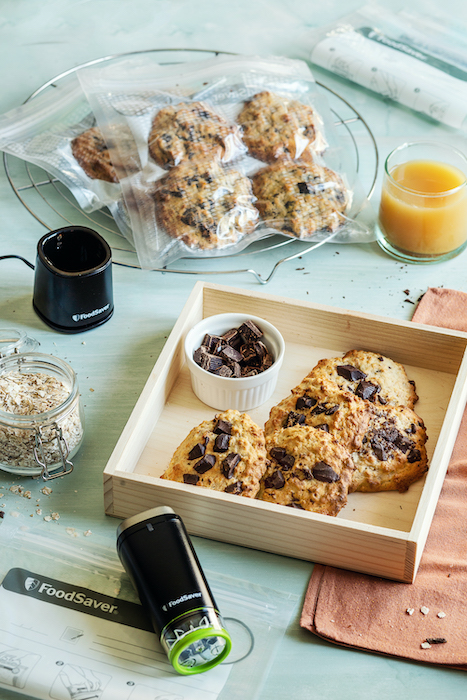 recette de Biscuits banane chocolat