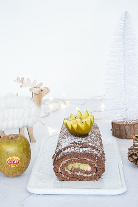 recette de Bûche roulée aux kiwis