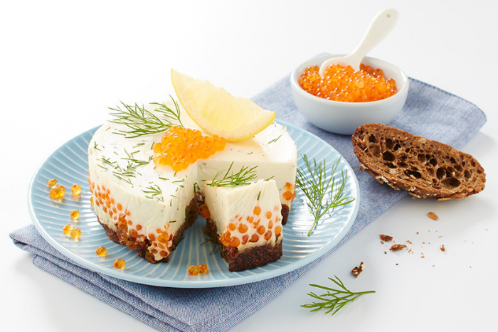 Cheesecake aux oeufs de truite
