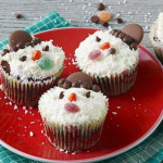 Cupcakes bonhommes de neige