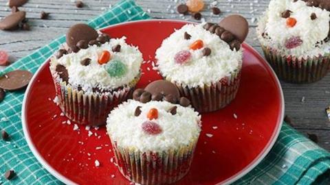 Flocon De Neige Bonhomme De Neige Frozen Noël Cupcake Wrappers X12 Holders