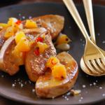 Foie gras et chutney d'ananas