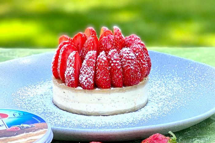 Tartelettes glacées fraise vanille