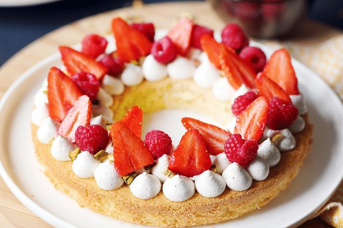 Gâteau-tarte aux fruits rouges