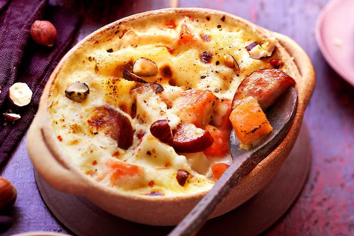Gratin d'automne aux patates douces