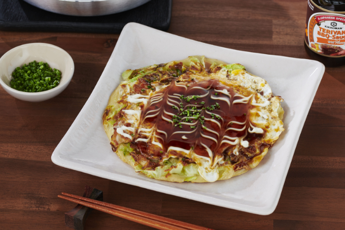 Crêpes japonaises à la viande