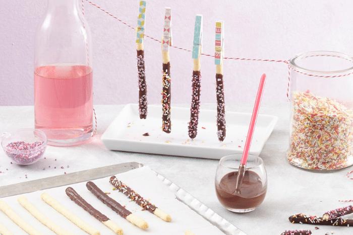 Mikado maison au chocolat