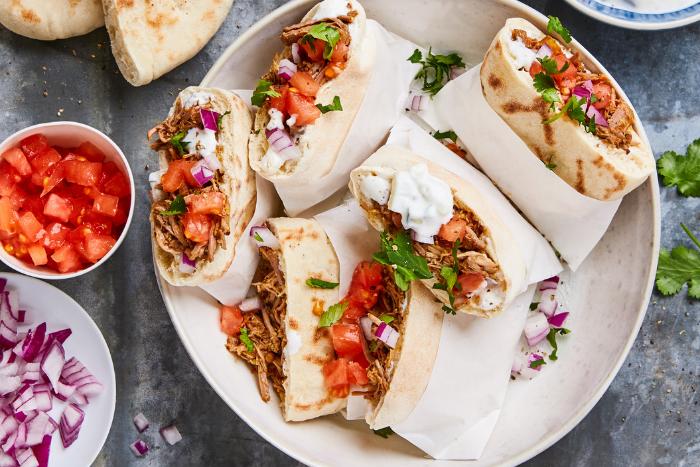 Mini sandwichs grecs à l'agneau
