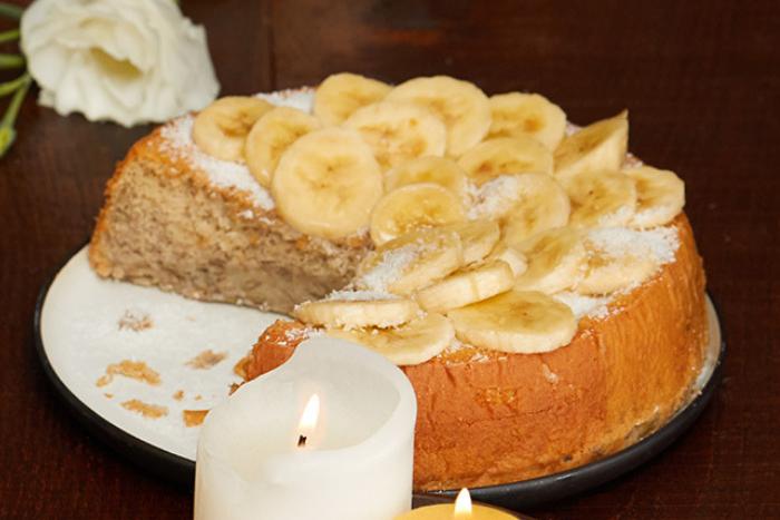 Moelleux fondant banane coco