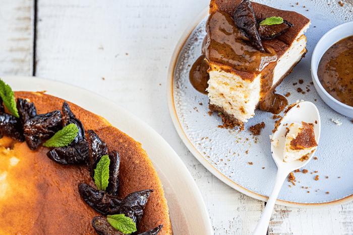 Gâteau au fromage blanc aux pruneaux