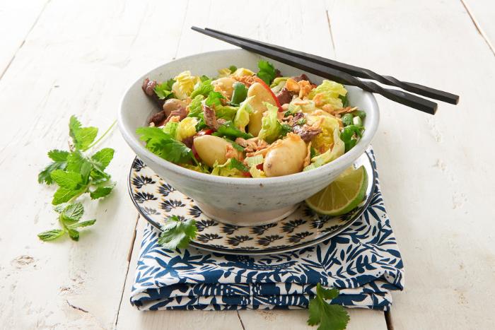 Salade de Ratte au boeuf à la vietnamienne