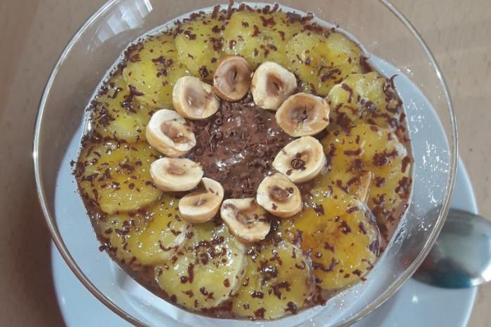 Riz au lait chocolat-bananes