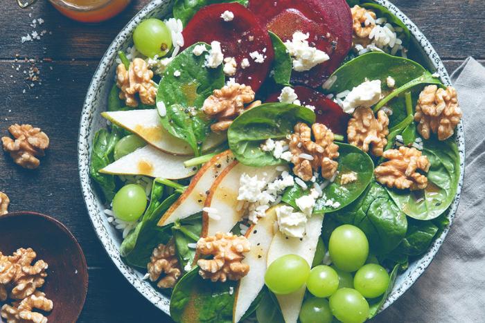 Salade composée aux cerneaux de noix