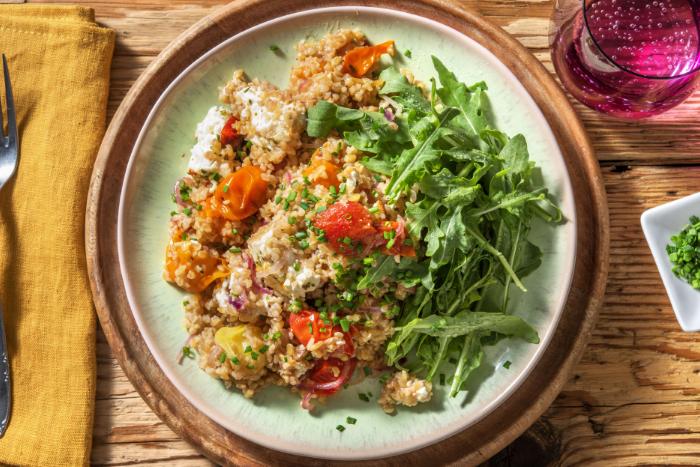 Salade de tomates confites et feta