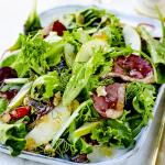 Salade de poire au magret fumé