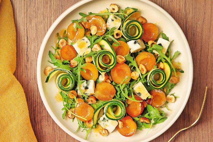 Salade de mirabelles au roquefort