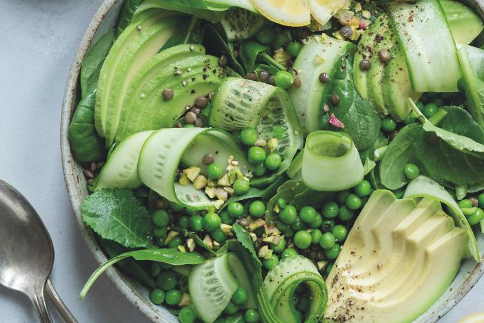 Salade verte aux lentilles du Puy