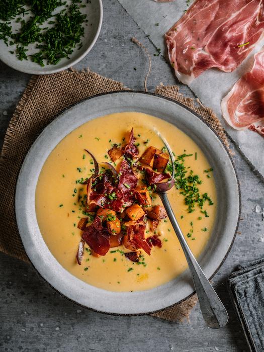 recette de Soupe de patates douces au Parme