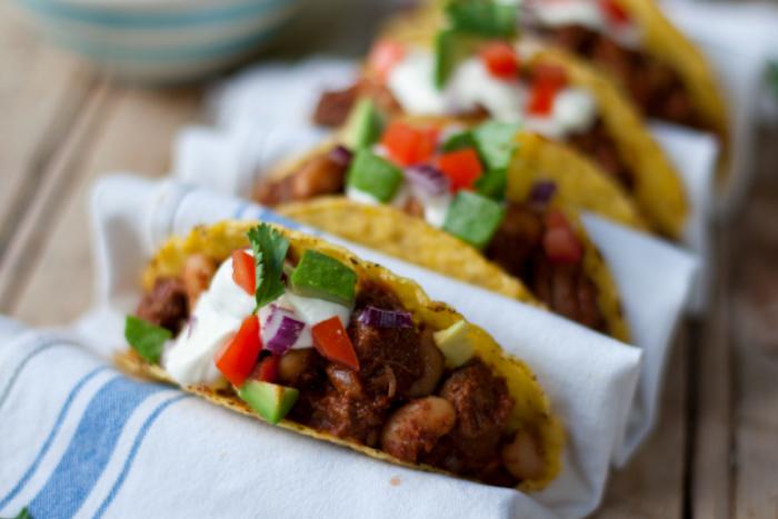 Tacos de boeuf tex-mex
