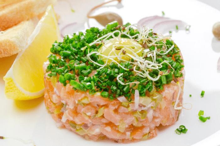 Tartare de saumon léger