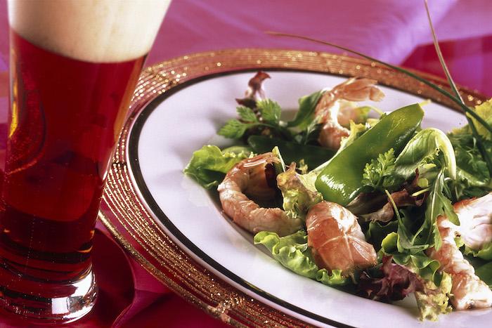recette de Salade de langoustines et pois gourmands