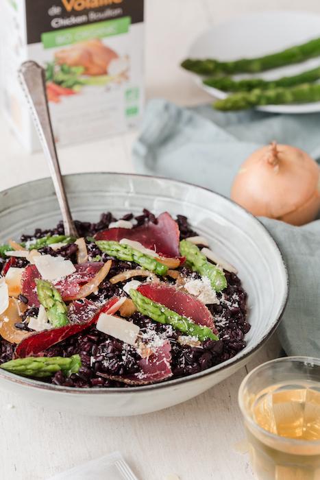 recette de Risotto de riz vénéré aux asperges