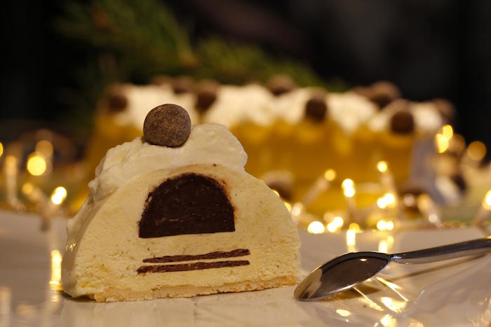 Bûche légère vanille à la truffe