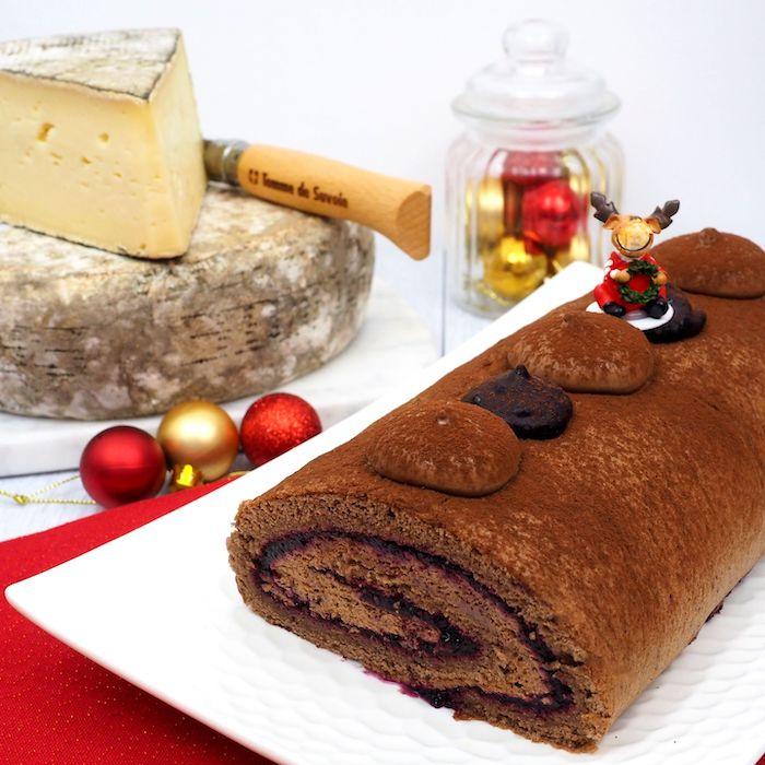 recette de Bûche de Noël à la Tomme de Savoie