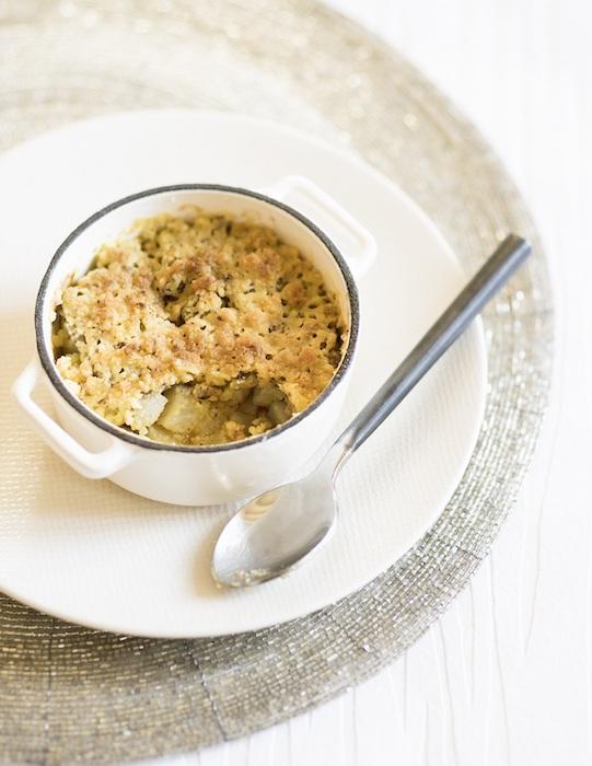 recette de Crumble de foie gras