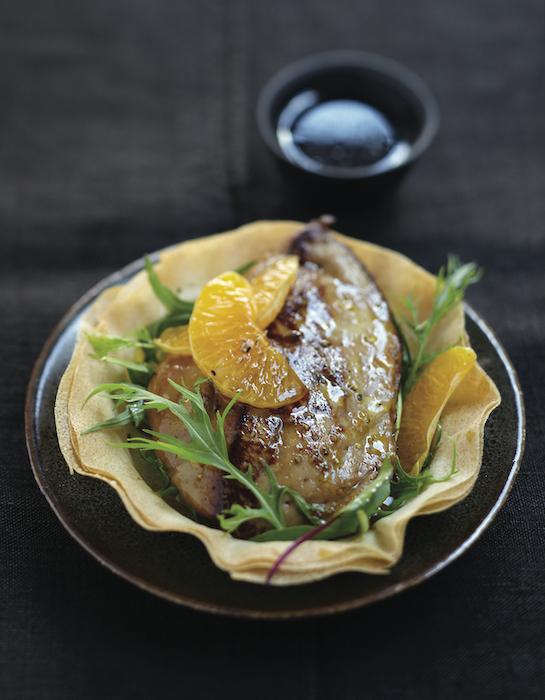 recette de Foie gras de canard aux clémentines