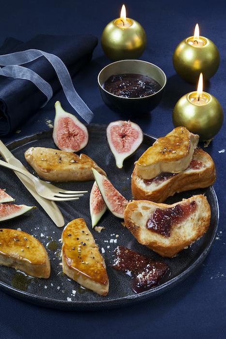 recette de Foie gras poêlé sur brioche