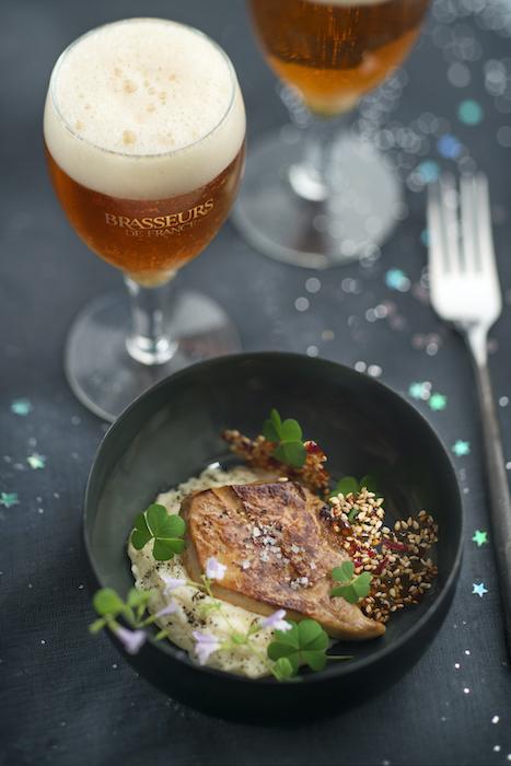 recette de Foie gras poêlé et topinambour
