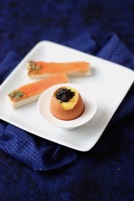 recette d'Oeufs brouillés au caviar