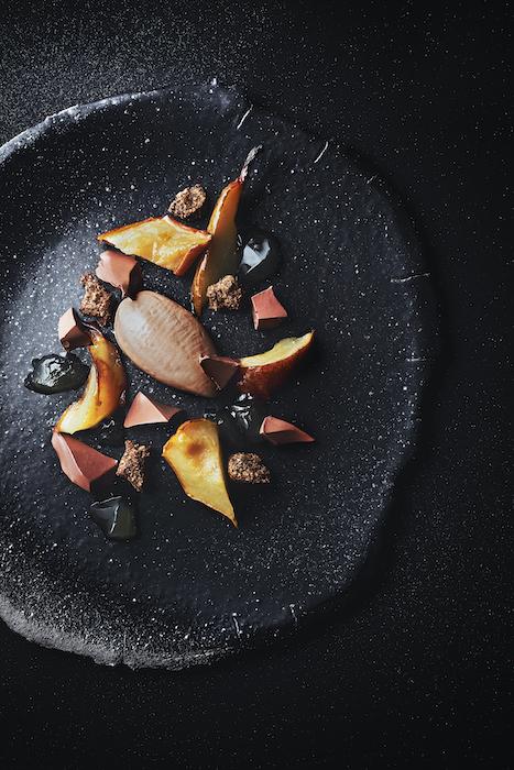 dessert à l'assiette de Frédéric Bau