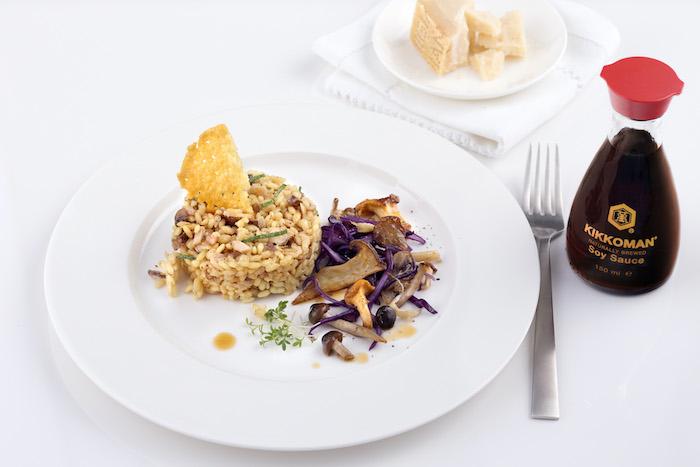 recette de Risotto aux champignons et parmesan