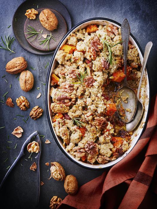 recette de Crumble de butternut aux noix