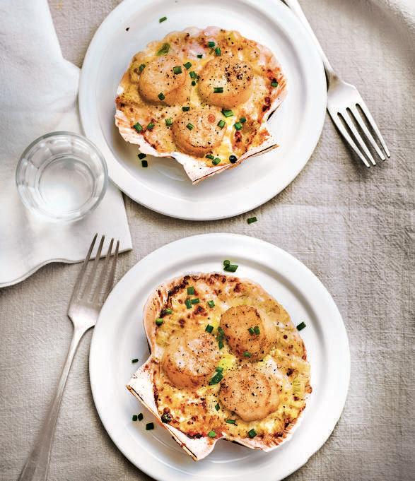 recette de Saint-Jacques gratinées gourmandes