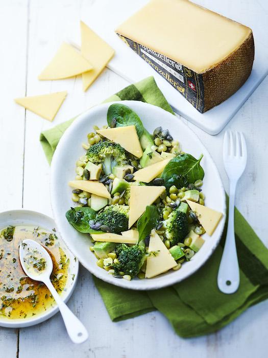 recette de Salade toute verte à l'Appenzeller