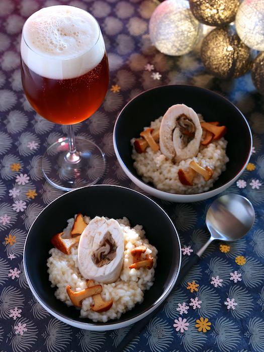 recette de Suprêmes de poulet farcis aux champignons