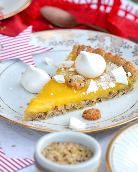 recette de Tarte fine au citron et aux meringues