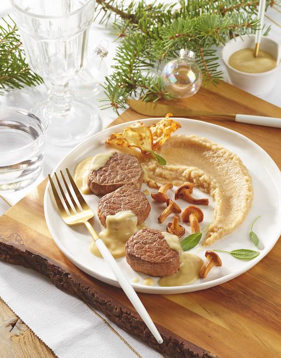 recette de Médaillons de boeuf au foie gras