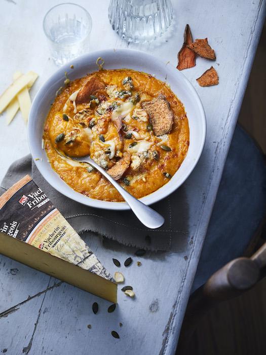 recette de Velouté de patate douce aux graines