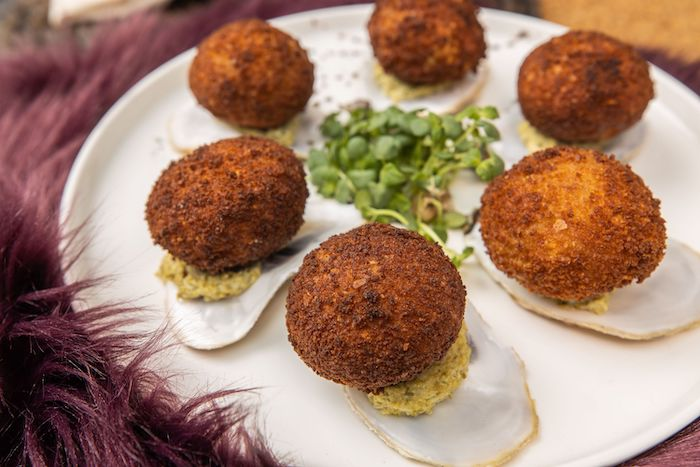 recette de Cromesquis d'huîtres au beurre de truffes