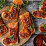 recette de Mini pizzas bottes de Noël